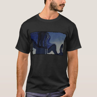 Brooklyn Bridge in Blue - Warped T-Shirt