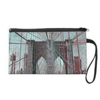 Brooklyn Bridge in NYC Wristlet Purse