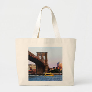 Brooklyn Bridge in NYC Original Photo Canvas Bags