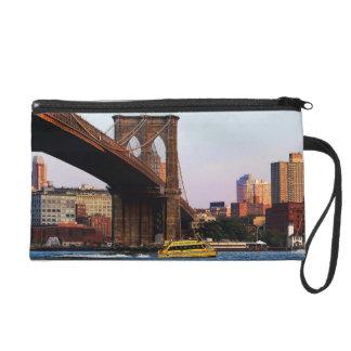 Brooklyn Bridge in NYC Original Photo Wristlet Clutch