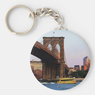 Brooklyn Bridge in NYC Original Photo Basic Round Button Keychain