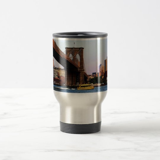 Brooklyn Bridge in NYC Original Photo Travel Mug