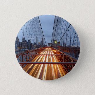 Brooklyn Bridge in the evening Button