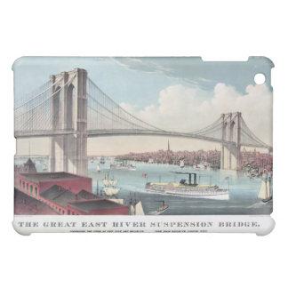 Brooklyn Bridge Ives Vintage Print iPad Mini Covers
