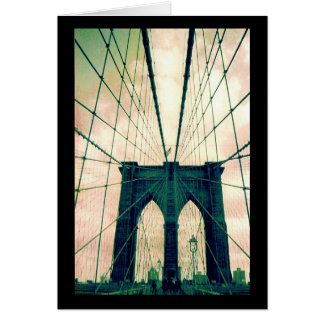 brooklyn bridge lines greeting card