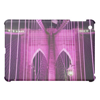 Brooklyn Bridge Lit Purple Cover For The iPad Mini