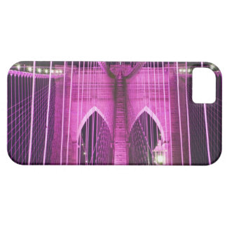 Brooklyn Bridge Lit Purple iPhone SE/5/5s Case