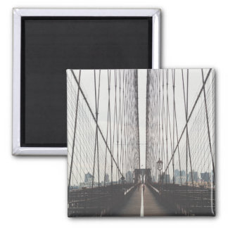 Brooklyn Bridge, New York 2 Inch Square Magnet