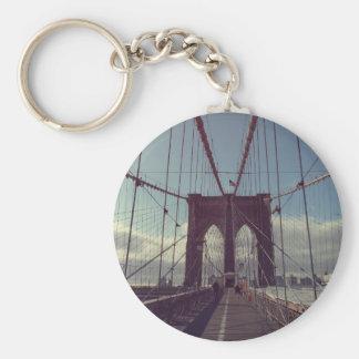 Brooklyn Bridge, New York Basic Round Button Keychain