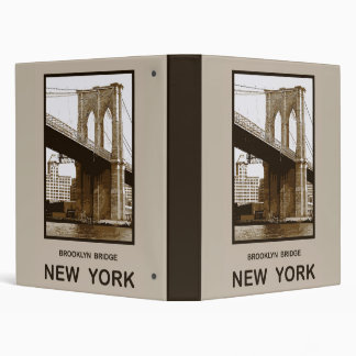 Brooklyn Bridge New York Binder