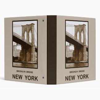 Brooklyn Bridge New York Binder