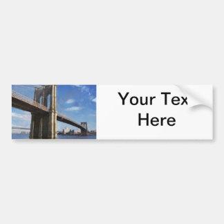 Brooklyn Bridge New York Car Bumper Sticker