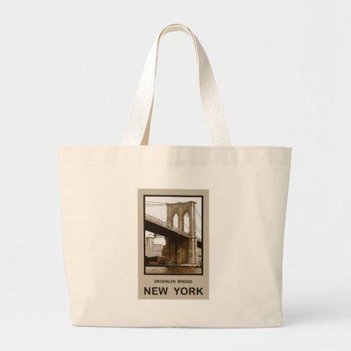 Brooklyn Bridge New York Canvas Bags