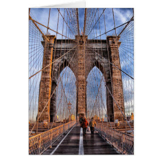 Brooklyn Bridge, New York Card