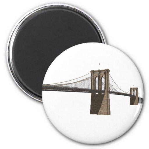 Brooklyn Bridge: New York City: 3D Model: Fridge Magnets
