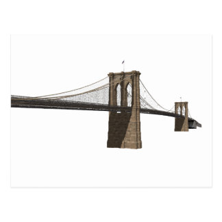 Brooklyn Bridge: New York City: 3D Model: Postcard