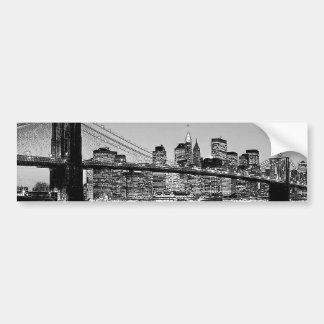 Brooklyn Bridge New York City Car Bumper Sticker