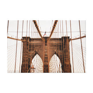 Brooklyn Bridge, New York City Canvas Print