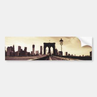 Brooklyn Bridge - New York City Car Bumper Sticker