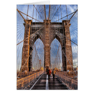 Brooklyn Bridge New York City Card