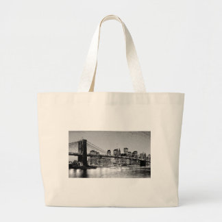 Brooklyn Bridge New York City Jumbo Tote Bag