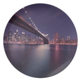 Brooklyn Bridge, New York City Plate