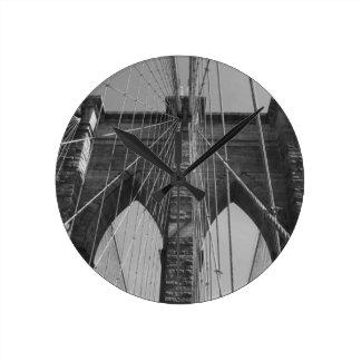 Brooklyn Bridge New York City Round Clock