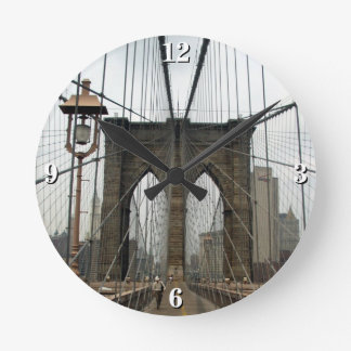 Brooklyn Bridge New York City Round Clock