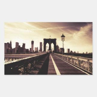 Brooklyn Bridge - New York City Rectangular Sticker