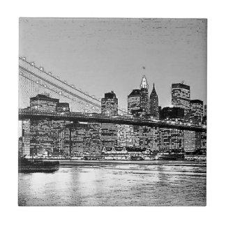 Brooklyn Bridge New York City Tile