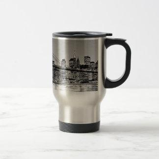Brooklyn Bridge New York City Travel Mug