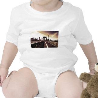 Brooklyn Bridge - New York City Baby Bodysuits