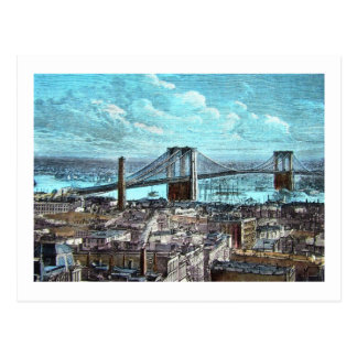 Brooklyn Bridge, New York City Vintage Postcard