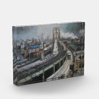 Brooklyn Bridge New York Fine Art Paperweight Award
