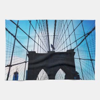 Brooklyn Bridge, New York Hand Towels