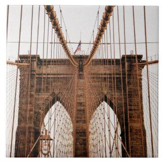 Brooklyn Bridge, New York Large Square Tile