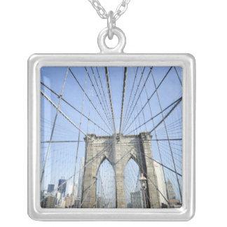 Brooklyn Bridge, New York, NY, USA Silver Plated Necklace