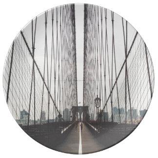 Brooklyn Bridge, New York Porcelain Plate