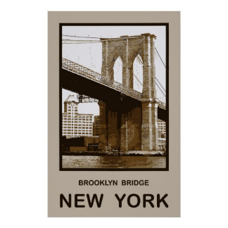 Brooklyn Bridge New York Print