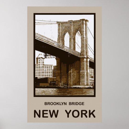 Brooklyn Bridge New York Poster