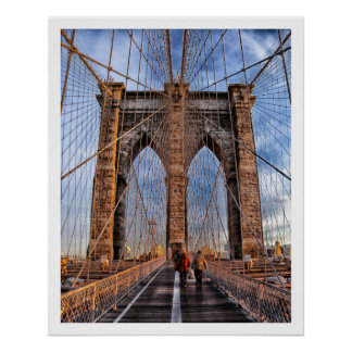 Brooklyn Bridge, New York Poster