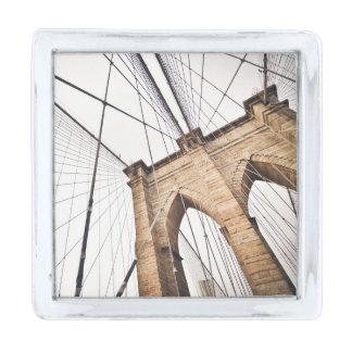 Brooklyn Bridge, New York Silver Finish Lapel Pin