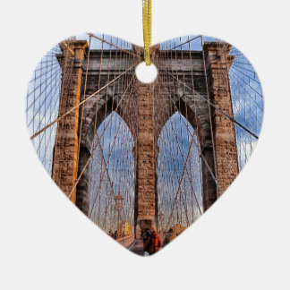 Brooklyn Bridge New York USA Ceramic Ornament