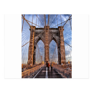 Brooklyn Bridge New York USA Postcard