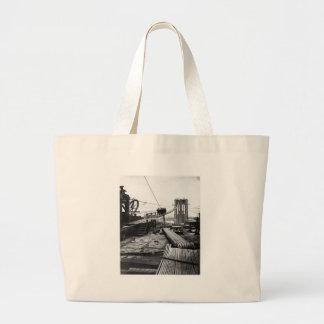 Brooklyn Bridge New York Vintage 1878 Photo Bags