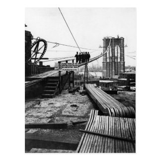 Brooklyn Bridge New York Vintage 1878 Photo Postcard