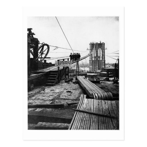 Brooklyn Bridge New York Vintage 1878 Photo Postcard