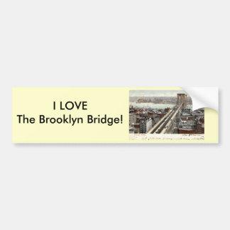 Brooklyn Bridge NY 1907 Vintage Car Bumper Sticker