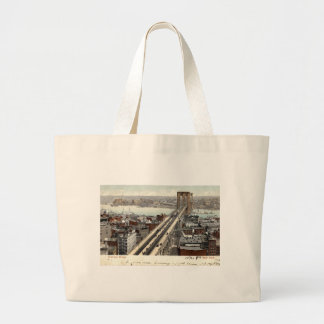 Brooklyn Bridge NY 1907 Vintage Large Tote Bag