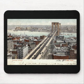 Brooklyn Bridge NY 1907 Vintage Mouse Pad